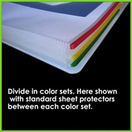 Colored Sheet Protectors – Red & other Color Coded Sheet Protectors