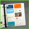 Business Card Pages Refill for Binders 3-Ring