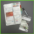 Tabbed Business Card Pages for Ring Binders