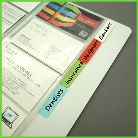 Tabbed Business Card Pages