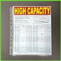 High Capacity Sheet Protectors with Expandable Edge