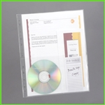 CD and Document Sheet Protectors in One Unit. Holds both securely