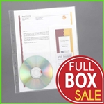 CD Pocket Document Holder for 3-Ring Binder and Pages 8.5x11