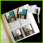 3.5 Disk Organizer Pages for 3 Ring Binders