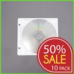 Sale 50% off: Half Price CD Sleeves for Binders with 2 Holes - 500 pieces
