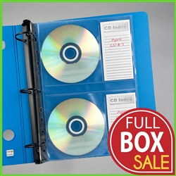 Sale 55% Off Full Box SALE on CD Pages with Index Pocket for labels. Sheet-CD