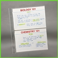 4 x 6 Clear Sheet Protectors for index cards and flash cards
