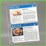 4 x 6 Clear Sheet Protectors for 4x6 recipe cards
