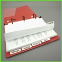 White Tab Dividers for Extra Wide Sheet Protector Tabs