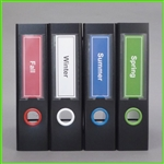 Solid Color Spine Label Template; Red, Snow White, Sapphire Blue, Lime Green