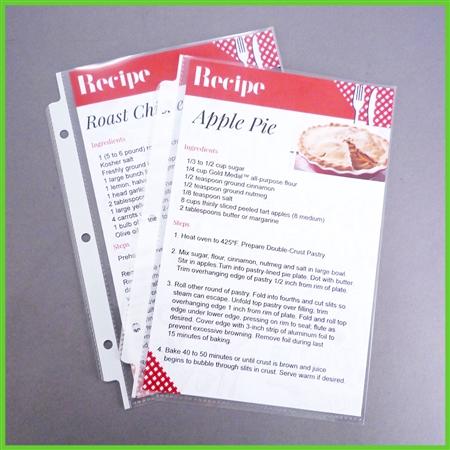 Half Size Recipe Template 5 5x8