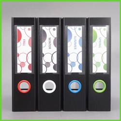 Bubbles Design Spine Label Set 1