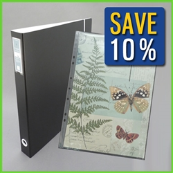 13x19 Binder with 13x19 Sheet Protectors Combo Set