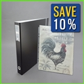 14 x 17 Portfolio Book Binder with 50 Matching Clear Sheets