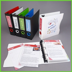 Mini Recipe Binder with 100 sheet protectors