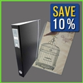 11x17 Portfolio Binder with 75 Sheet Protectors in Portrait Orientation – Combo Set