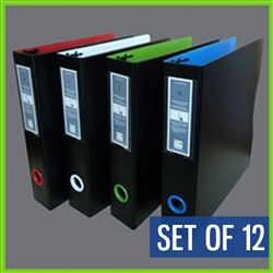 Case of 3 Ring Binders - 8.5x11 Letter Size Binder 12 units per case