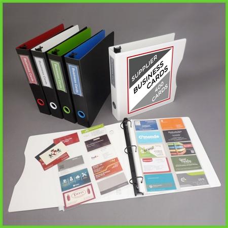 Business Card Binder ThreeRing Business Card Binder Kit