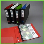 CD Binder Set for organizing with Index Labels