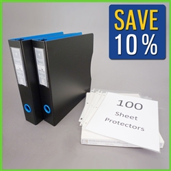 8.5x11 Letter Size Document Binder with Sheet Protectors for filing & archiving