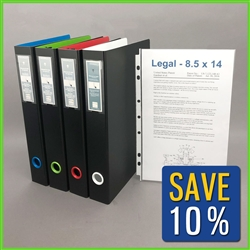 Legal Document Binder with Sheet Protectors for filing & archiving