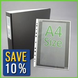 A4 Binder with Sheet Protectors