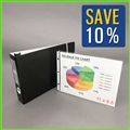 11x8.5 Landscape Portfolio Binder with Sheet Protectors