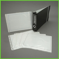 Landscape Recipe Binder Set with Binder and Sleeves