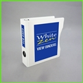 5.5 x 8.5 White Zen Mini View Binder