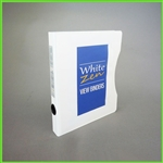 Slim 5.5 x 8.5 White Zen Mini View Binder – Small 3 Ring Binder for notes