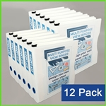 Case of 12 View Binders in Bulk - Letter Size 8.5 x 11 White Zen 3 Ring View Binders