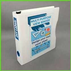 "1.5"" View Binder, 3 Ring view binders with Clear Cover front Pocket.; 8.5 x 11 Letter Size White Zen Binder"