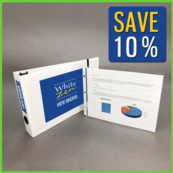 11 x 8.5 Landscape Presentation Binder Set with Insert Sleeves