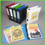 Playbill Binder with 50 playbill sleeves