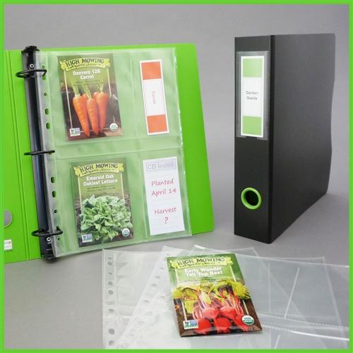 Lime Green Gardening Seed Organizer Binder