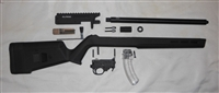 MATTE BLACK ELITE22 BILLET PRECISION BUILDERS KIT 10/22 RECEIVER WITH MAGPUL HUNTER X-22 STOCK