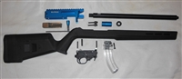 BLUE ELITE22 BILLET PRECISION BUILDERS KIT 10/22 RECEIVER WITH MAGPUL HUNTER X-22 STOCK