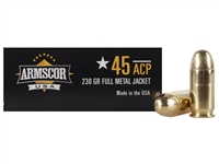 Armscor USA 45 ACP Auto Full Metal Jacket, 230 Grain, 50 ROUND BOX