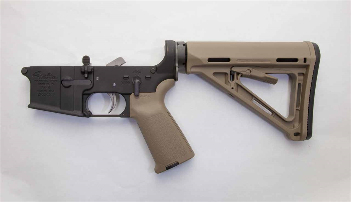 Anderson Complete Lower Receiver Ar 15 With Fde Magpul Furniture