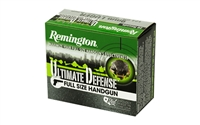 Remington, Ultimate Defense, 9MM, 124 Grain, Brass Jacketed Hollow Point, 20 Round Box