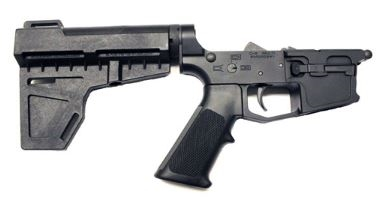 New Frontier Armory C-9 Complete Billet Pistol Lower Receiver With  Shockwave Stabilizing Brace — Glock Mags