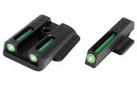 Truglo, Brite-Site Tritium / Fiber Optic Sight, Fits Ruger LC9 LC380 pistols, Green