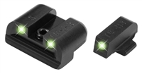 Truglo, Brite-Site Tritium  Sight, Fits Sig #6 Front/ #8 Rear pistols, Green