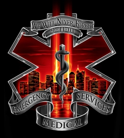 9 11 Never Forget Ems T Shirt