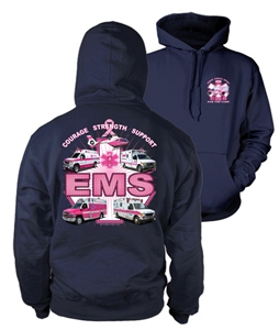 EMS For the Cure(Trucks) Pullover Hooded Sweatshirt