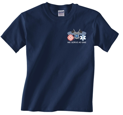 We Serve As One Fire-Police-EMS T-shirt