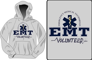 EMT College Style Hooded Sweatshirt