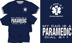 My Dad Is A Paramedic Kids T-Shirt