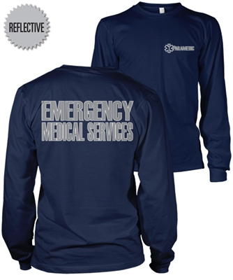 Paramedic Reflective Long Sleeve T-Shirt