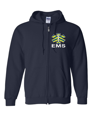 EMS Safety Stripe Full Zipper Hooded Sweatshirt
